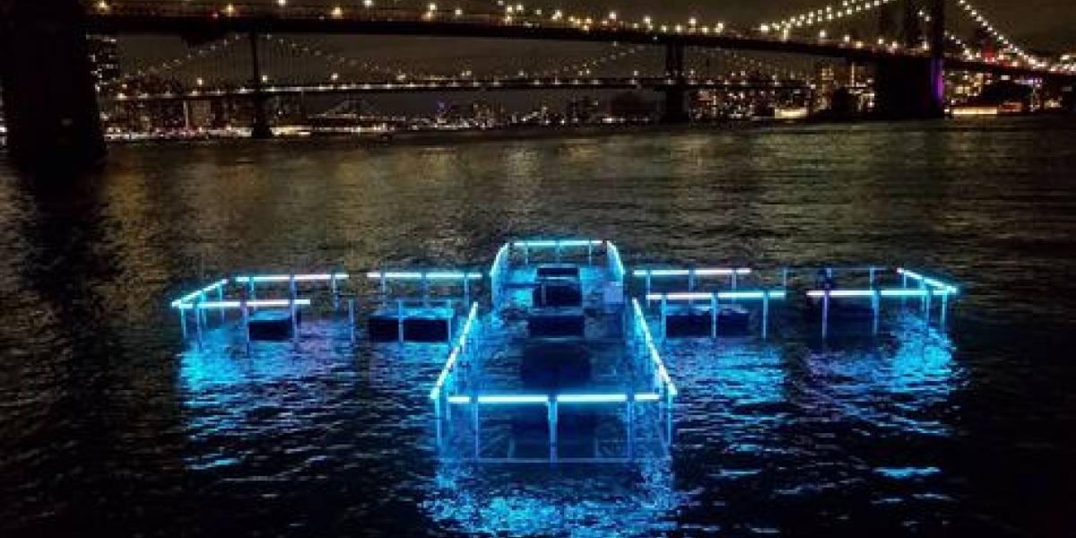 Escultura LED monitorea la calidad del agua de NY