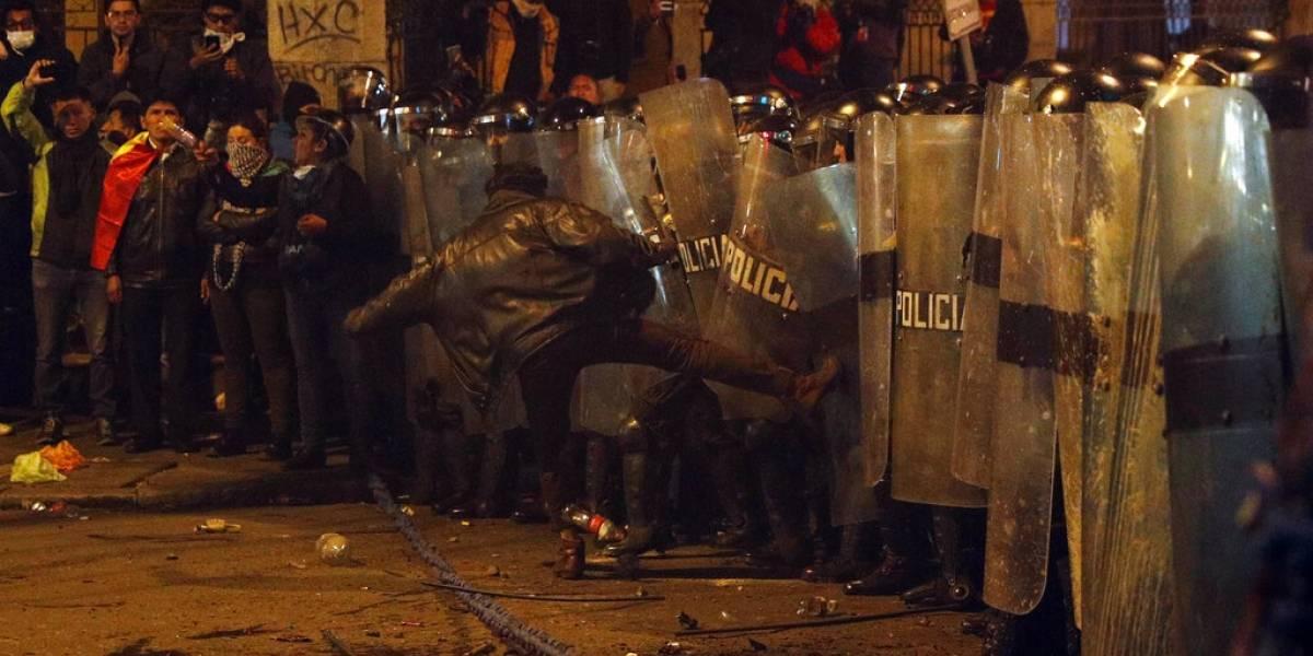 Protestas contra Evo Morales tras elección en Bolivia