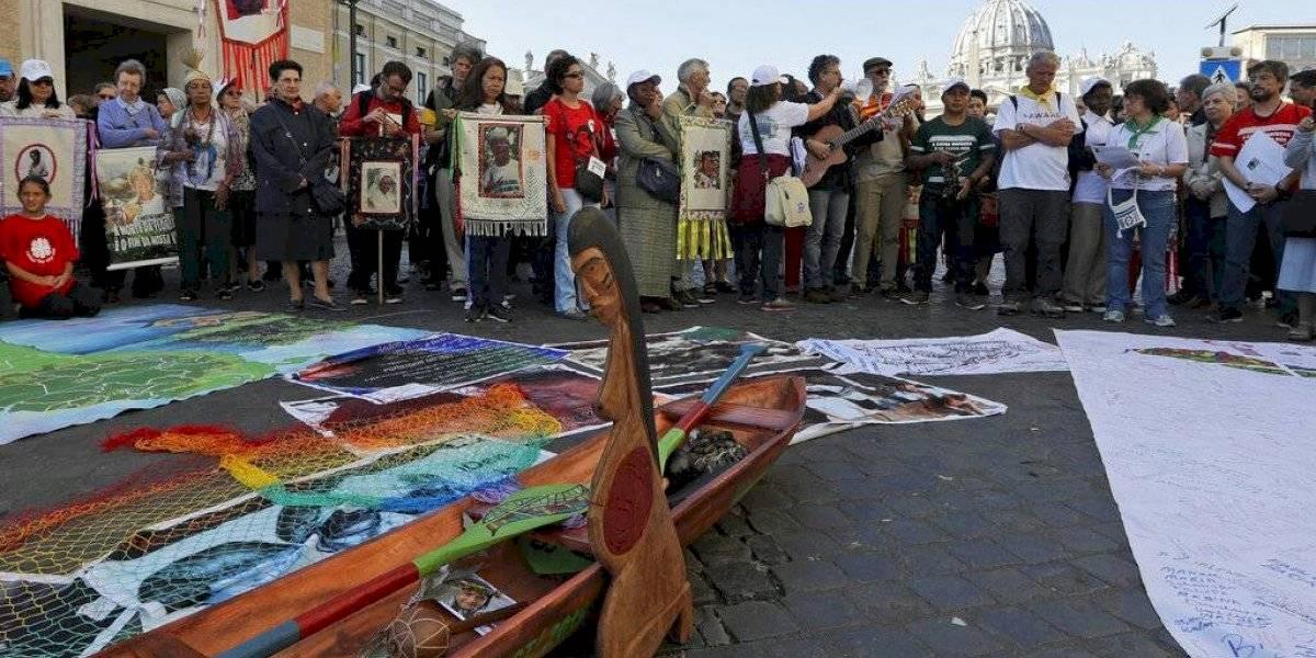 Francisco se disculpa por destrucción de estatuas amazónicas