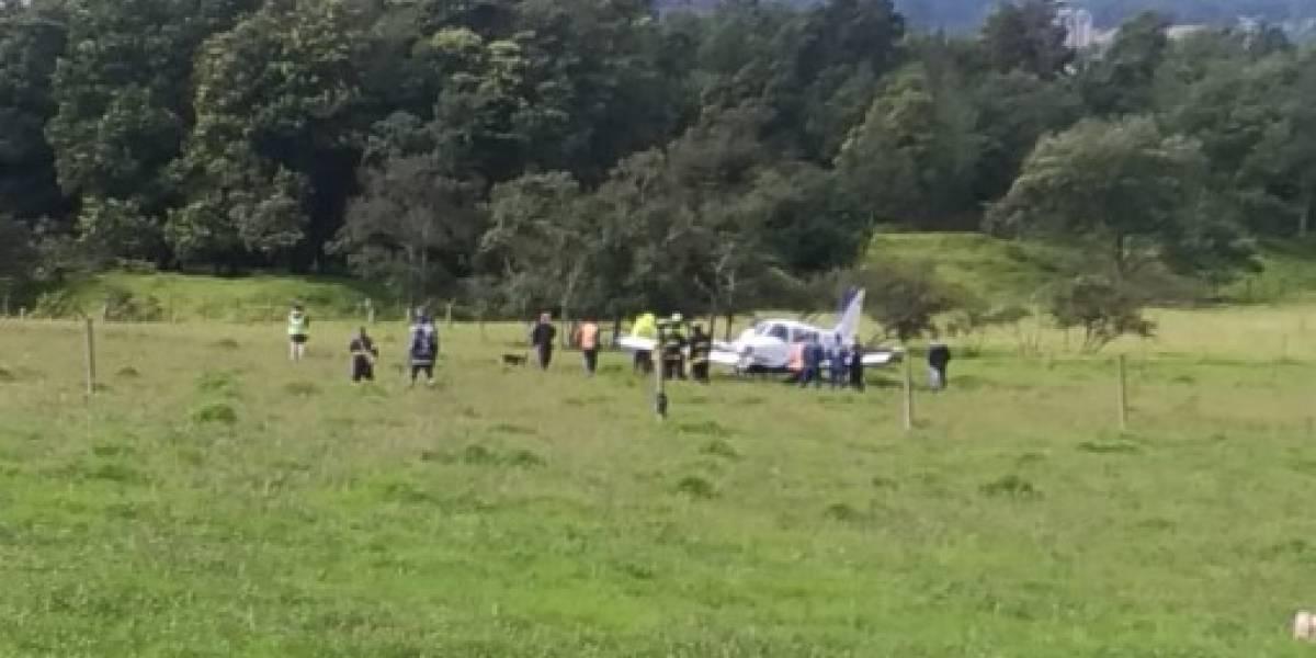 ¡Atención! Avioneta tuvo que aterrizar de emergencia en el norte de Bogotá