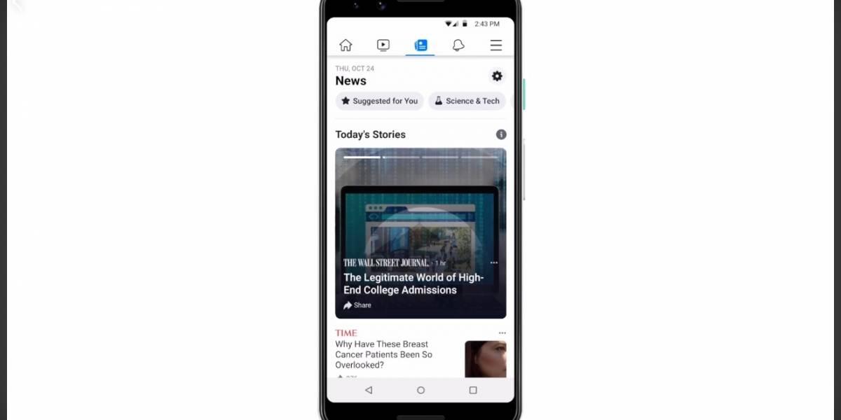 Facebook lanzó su sección de noticias: qué es y cómo funciona