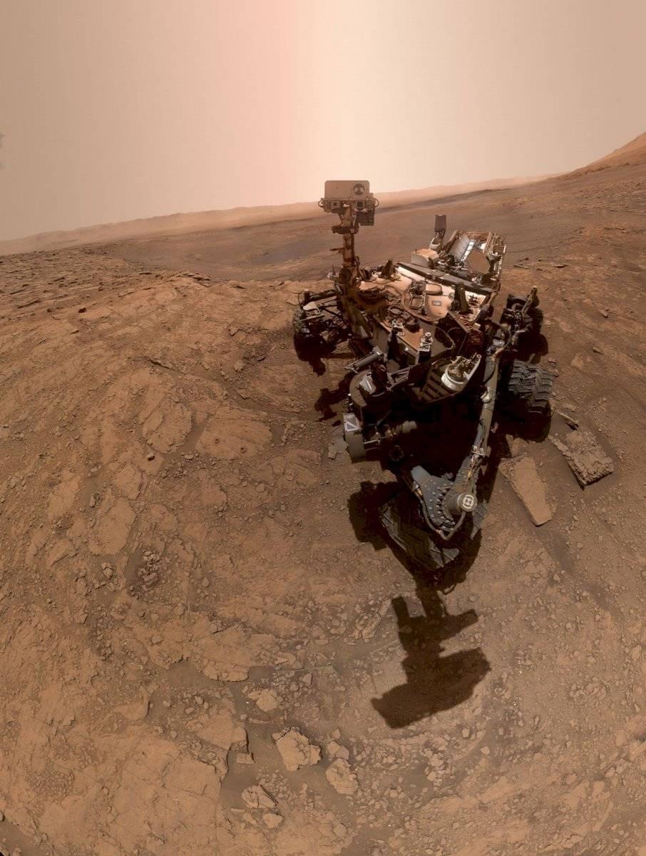 """Esta es la """"selfie"""" que se tomó el Curiosity en Marte"""