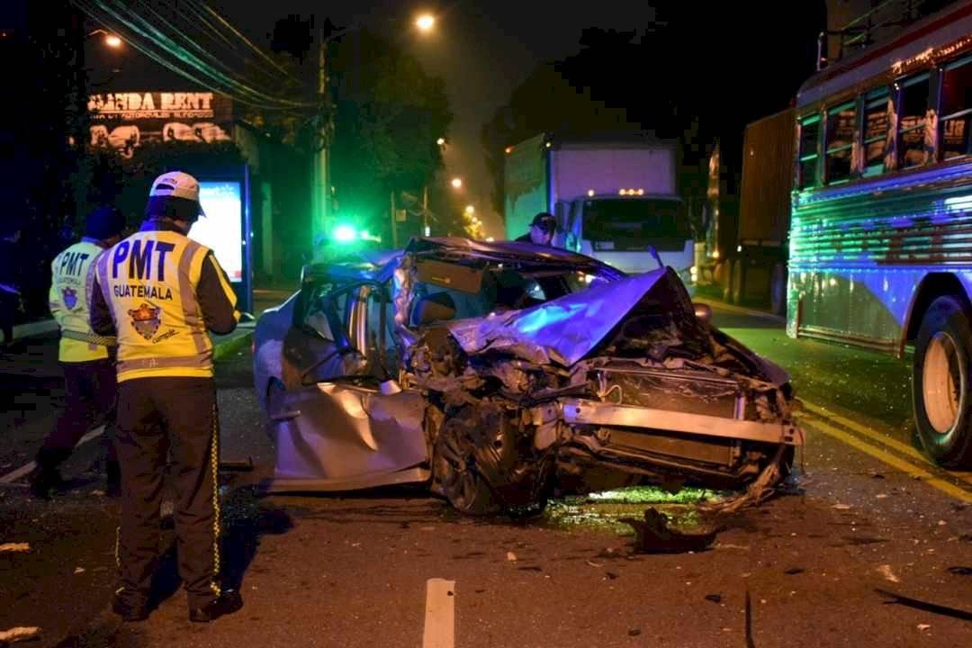 Accidente fatal en zona 13