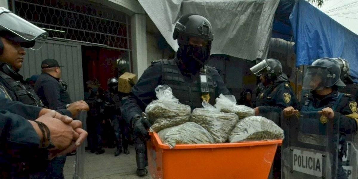 Niegan pérdida de droga asegurada en el barrio de Tepito