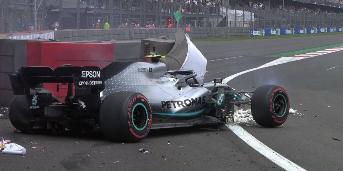 VIDEO: Valtteri Bottas sufre accidente en clasificación del GP de México
