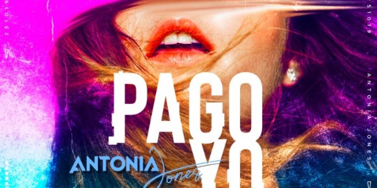 Antonia Jones quiere encantar con su canción, 'Pago yo'