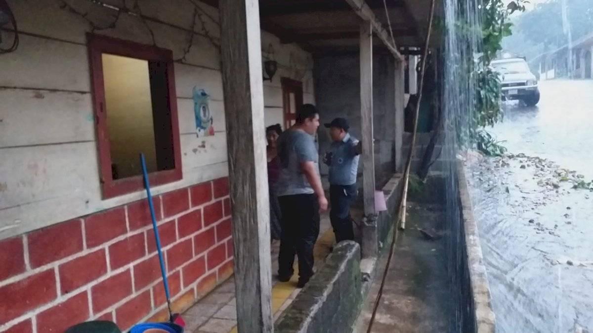 Vivienda se inunda en Chicacao, Suchitepéquez. Brigada de Socorro Chicacao