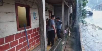 Vivienda se inunda en Chicacao
