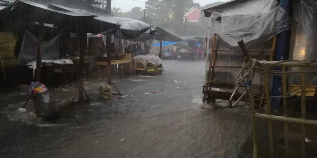 VIDEO. Se reportan inundaciones en Suchitepéquez tras fuertes lluvias