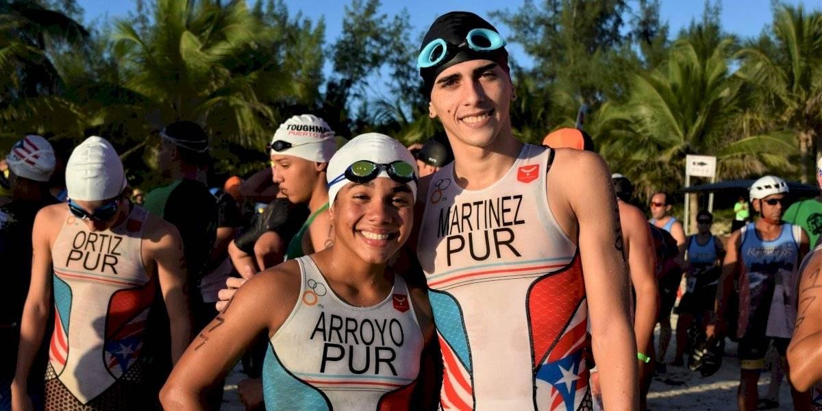 Isamarie Arroyo y Janarold Martínez, campeones de triatlón en Culebra
