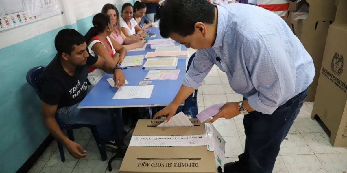 Fotos: Candidatos a la Alcaldía de Cali ya salieron a votar