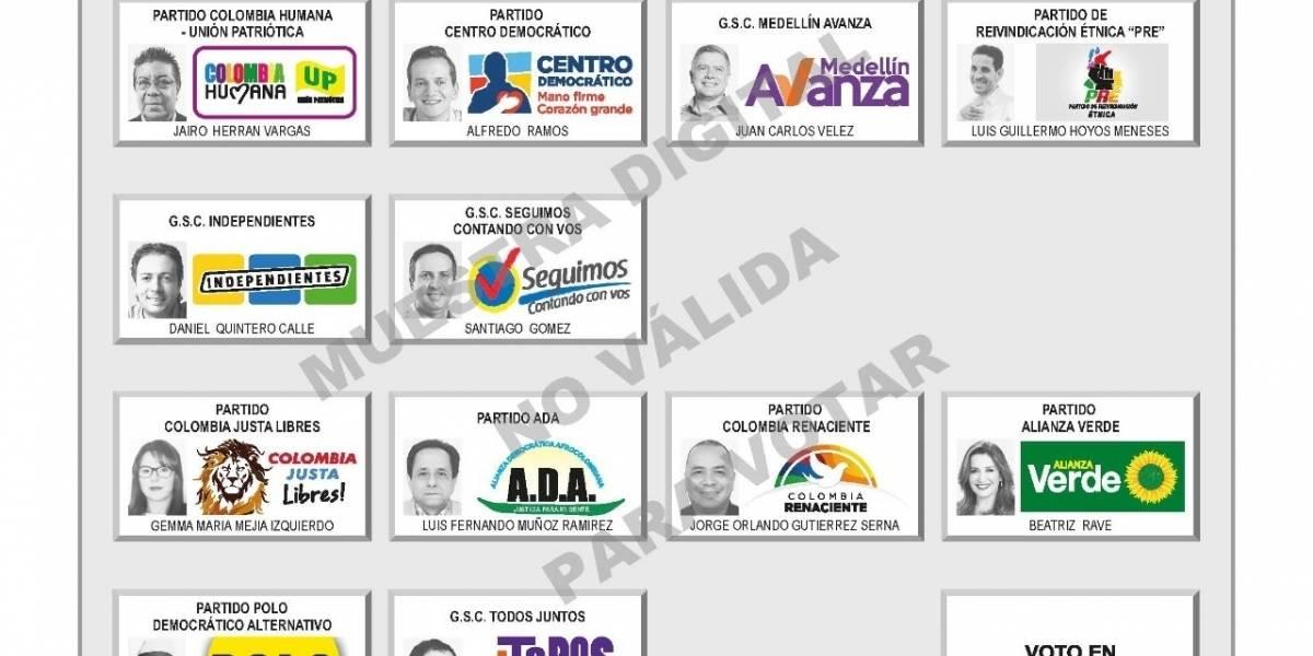 Resultados elecciones por la Alcaldía Medellín