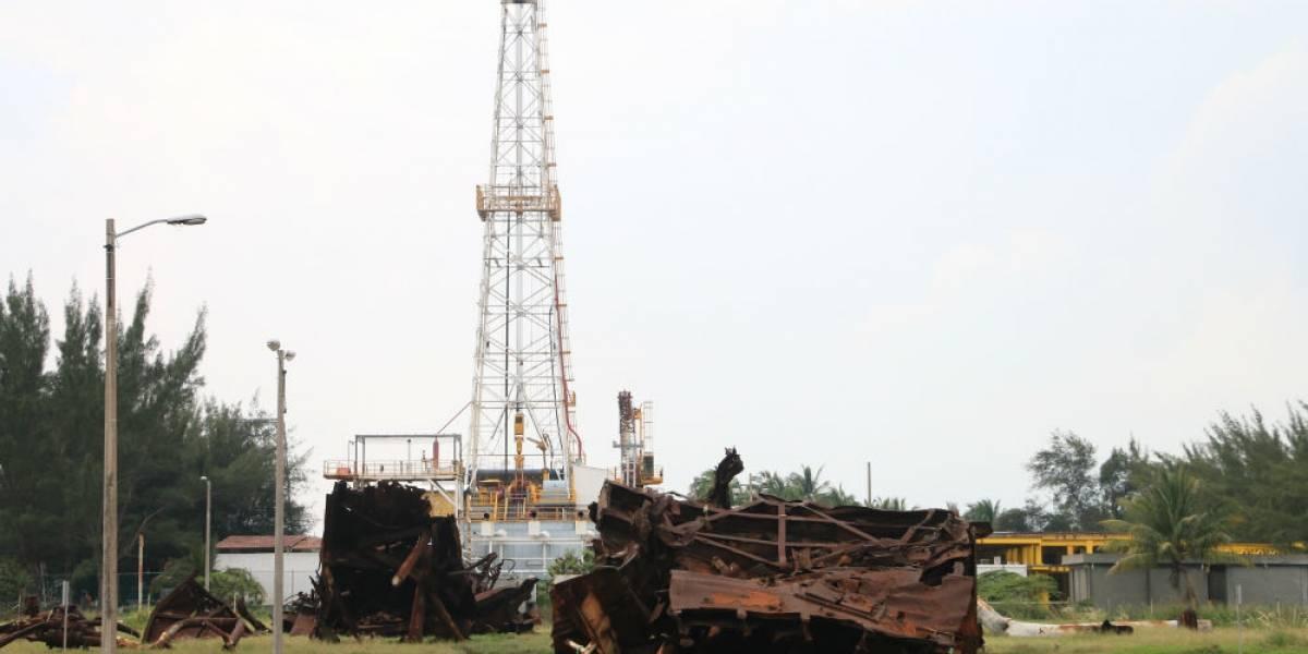 Difunden foto de obra en Dos Bocas inundada; Nahle rechaza daños a refinería