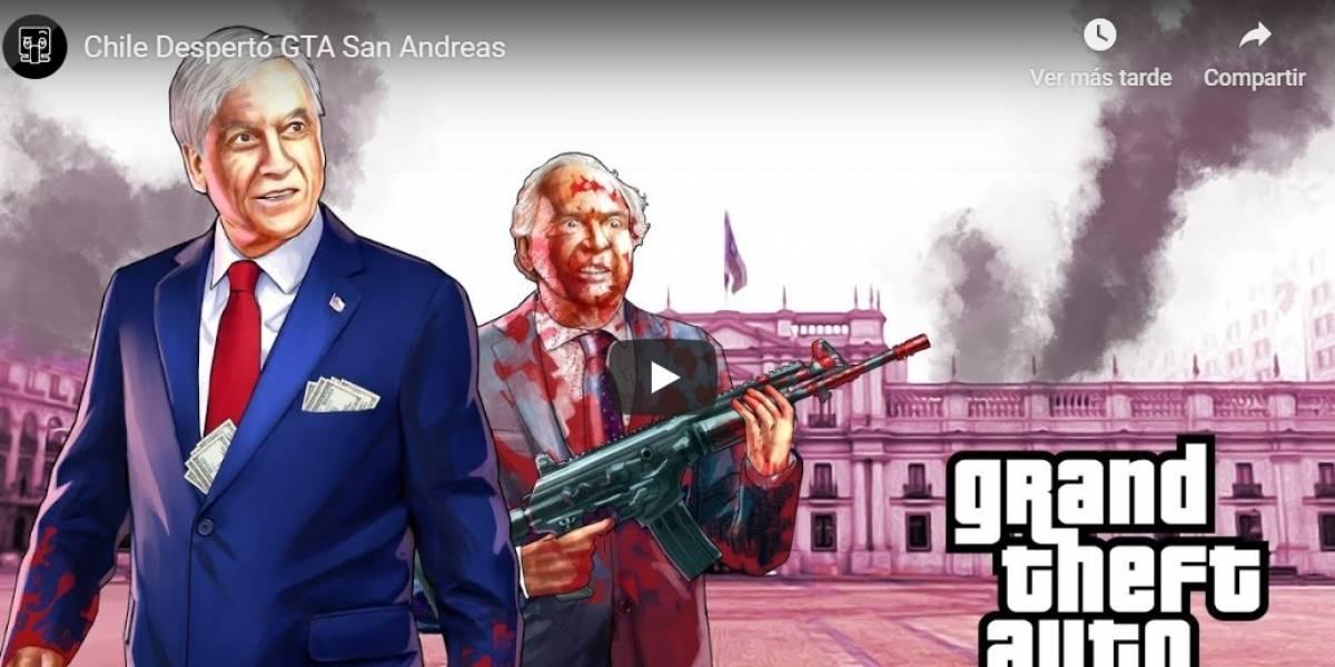 """Al estilo GTA San Andreas: """"Chile Despertó"""" y las manifestaciones también llegaron al canal parodia"""