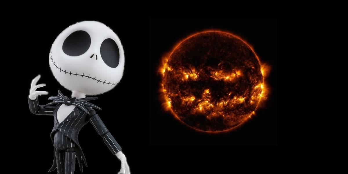NASA publica una escalofriante foto del Sol que luce como una calabaza de Halloween