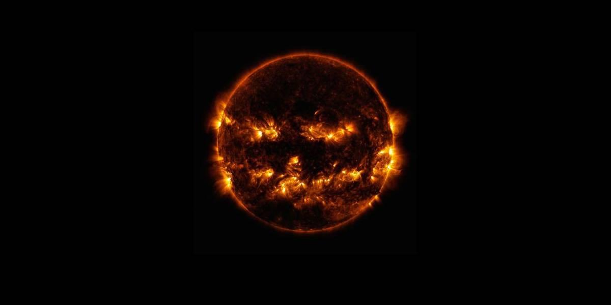 NASA publica una escalofriante foto del Sol y luce como una calabaza de Halloween