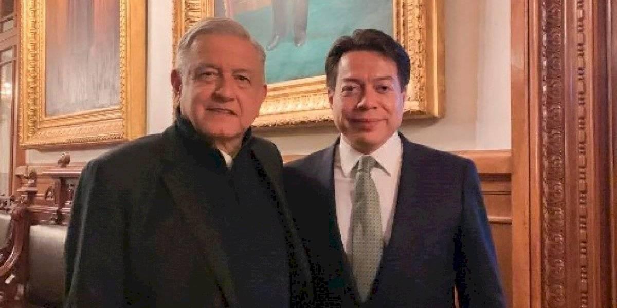Mario Delgado se reúne en Palacio Nacional con AMLO