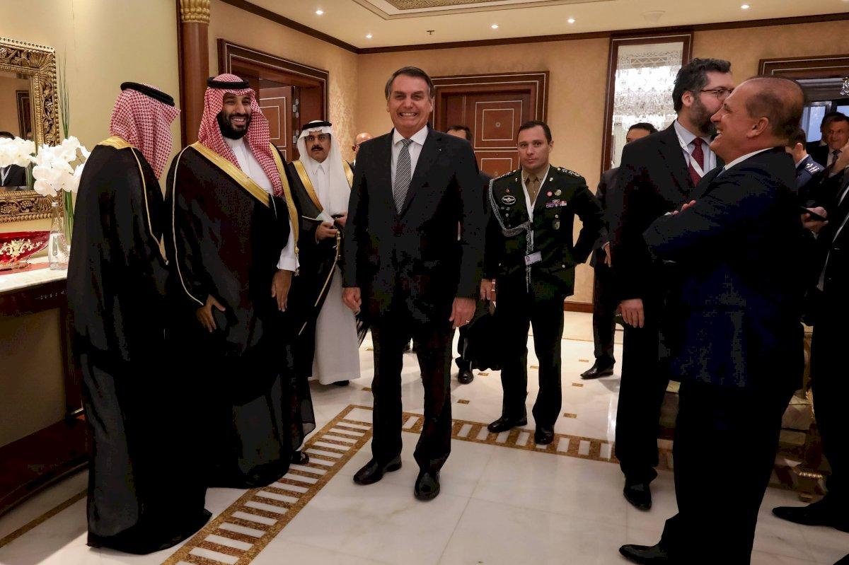 Jair Bolsonaro e o príncipe da Arábia Saudita, Mohammed bin Salman