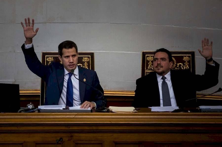 Juan Guaidó estuvo presente en el Parlamento EFE