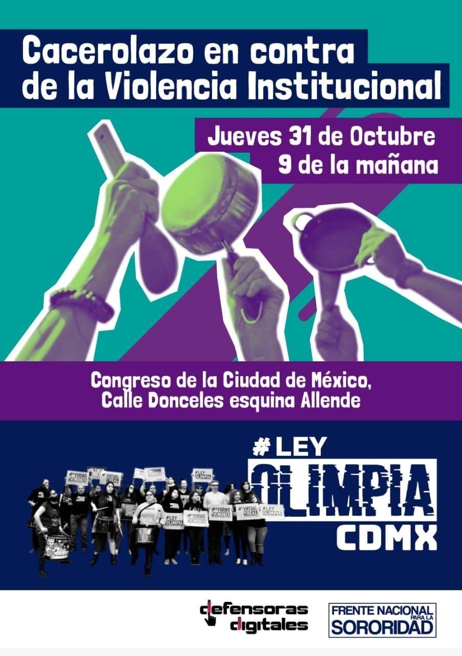 Uniéndose al contexto internacional: Convocan en Ciudad de México a cacerolazo por los derechos digitales de las mujeres