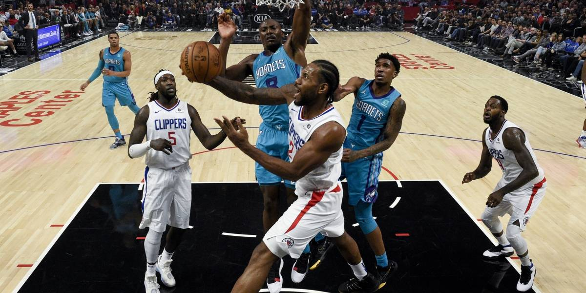 Leonard anota 30 en triunfo de los Clippers sobre Charlotte