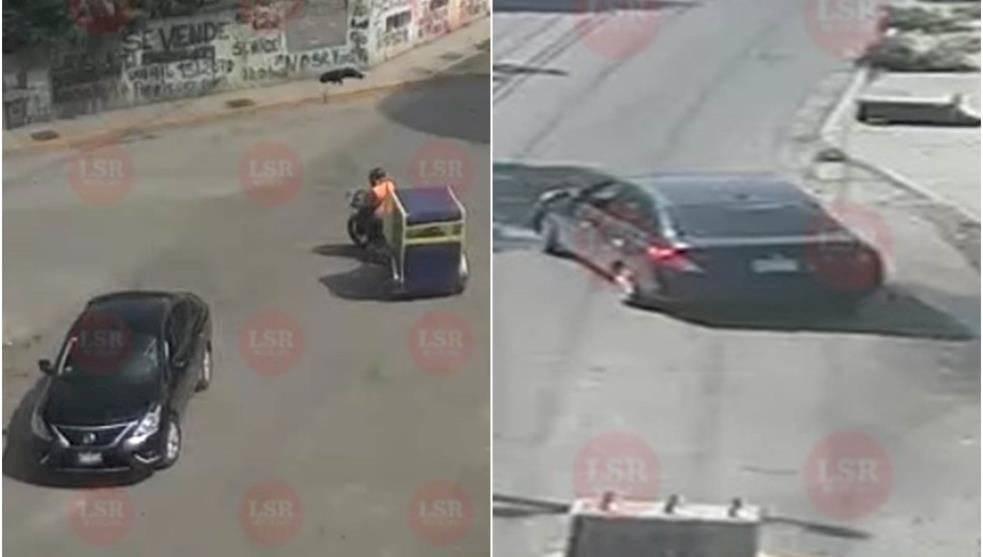 Auto de los atacantes del alcalde de Valle de Chalco