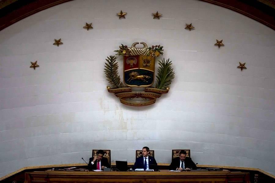 Vista este martes de la Asamblea Nacional de Venezuela durante una sesión en el Palacio Federal Legislativo de Caracas EFE