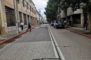 cierres vehiculares y presencia de PNC en zona 1 por citación al PDH