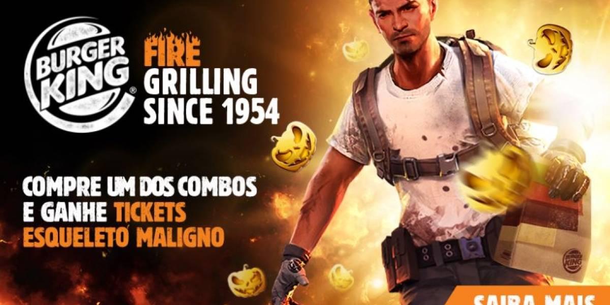 Parceria do Burger King e Free Fire no Brasil premiará jogadores com códigos exclusivos