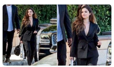 Selena Gomez sin sostén