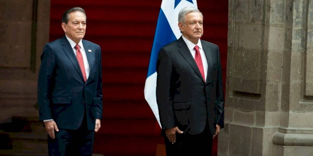 Se reúne AMLO con el presidente de Panamá en Palacio Nacional