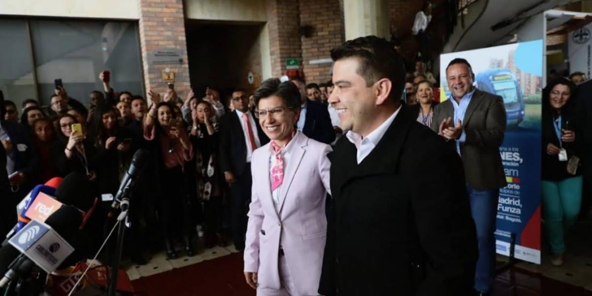 Así fue la visita de Claudia López a la gobernación de Cundinamarca