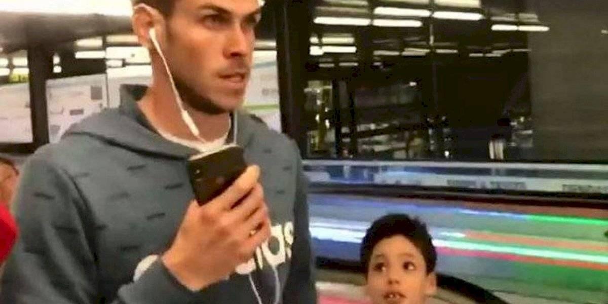 VIDEO. El feo gesto de Gareth Bale con un niño