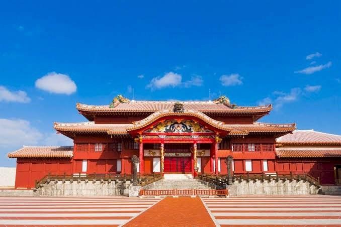 Castelo de Shuri em Okinawa, pré-incêndio