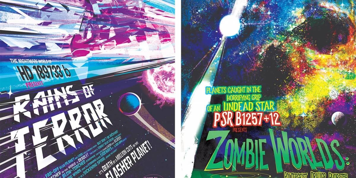 La NASA lanzó pósters de exoplanetas como un regalo de Halloween