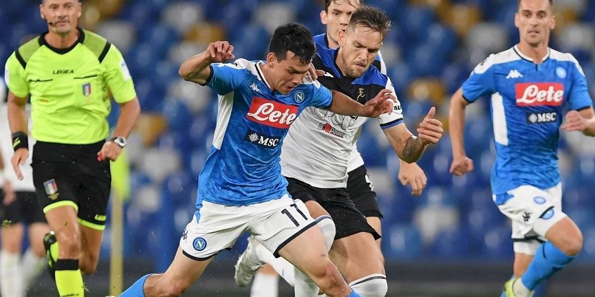 Con 'Chucky' Lozano en la cancha, Napoli empata ante Atalanta