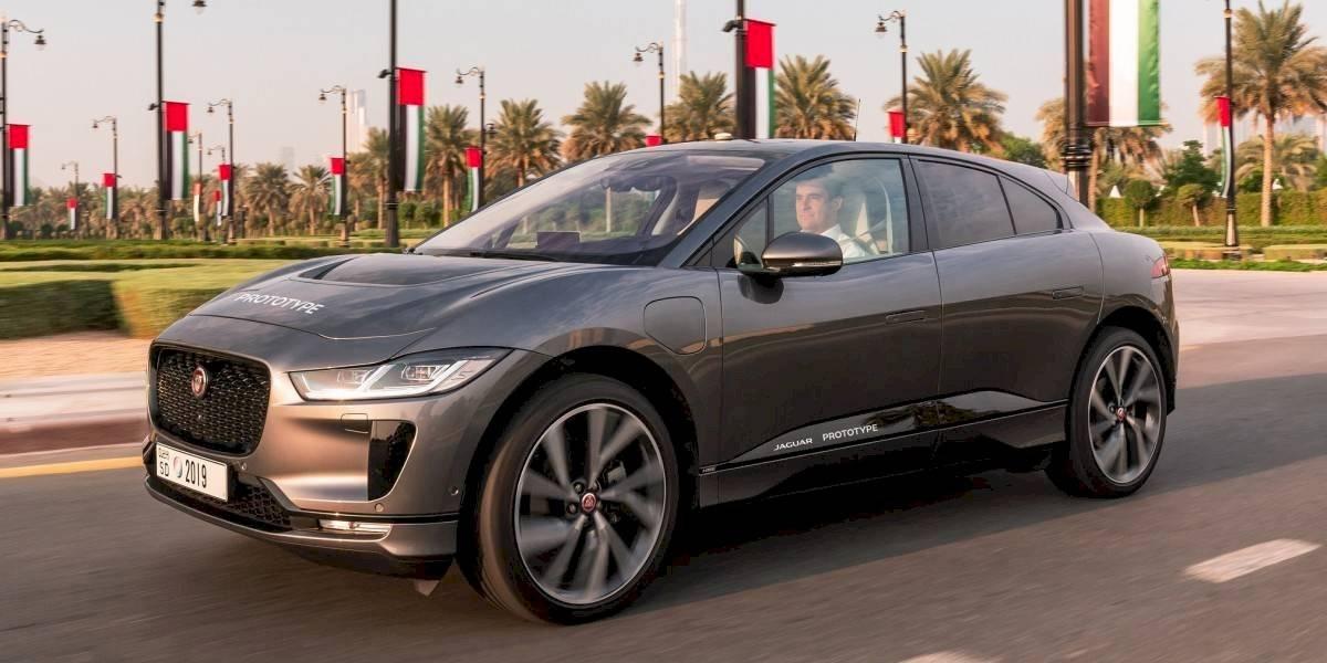 Jaguar prueba un prototipo autónomo del I-Pace por Dubai