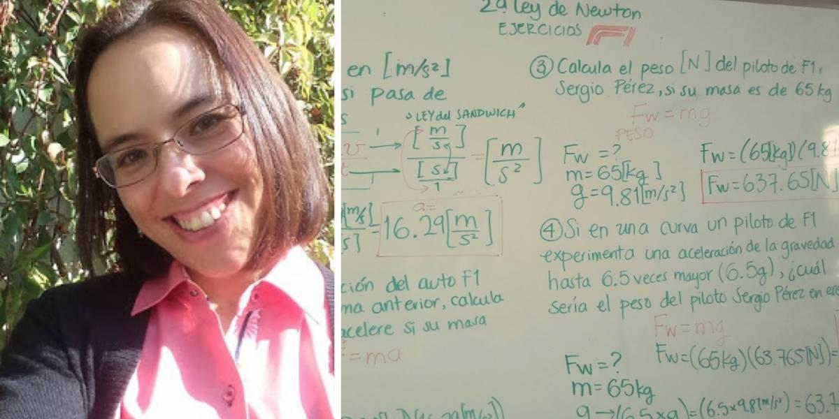 ¿Quién es la profesora que enseña física con ejemplos de la Fórmula 1?