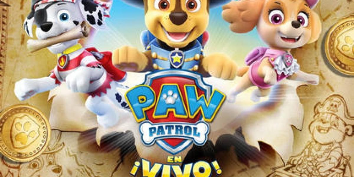 """Paw Patrol viene """"En busca del tesoro"""" del 15 al 17 de noviembre en el Teatro Nacional"""