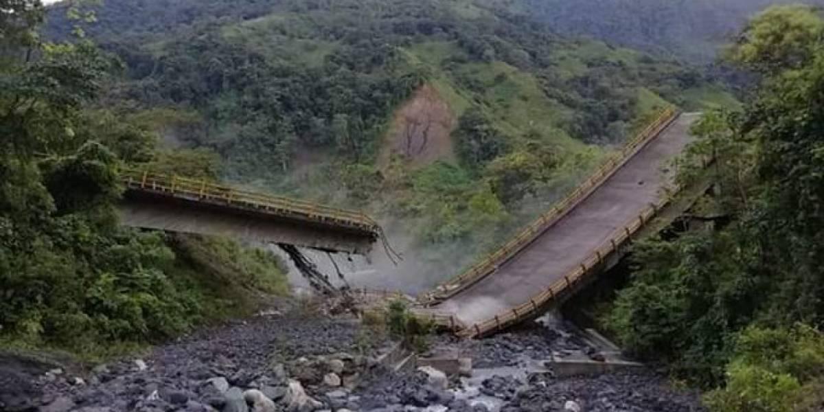 Puente en Boyacá se desplomó... ¡Y solo funcionó seis años!