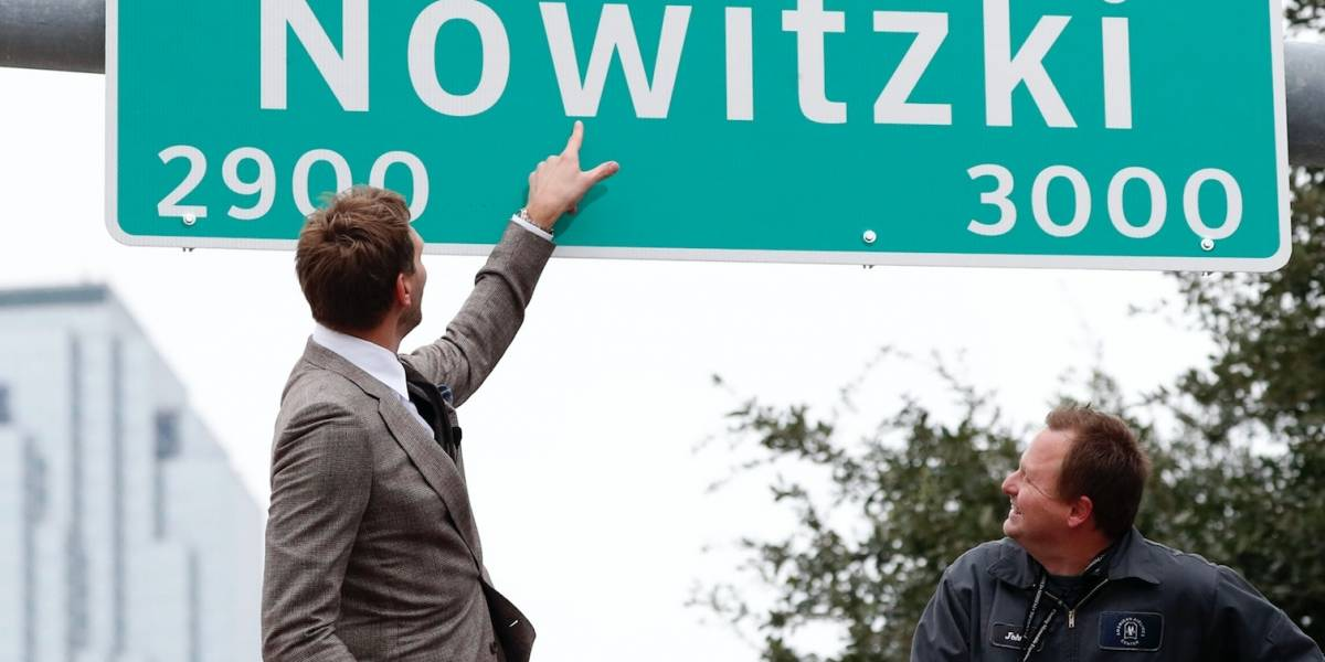 Renombran calle de Dallas en honor a Dirk Nowitzki