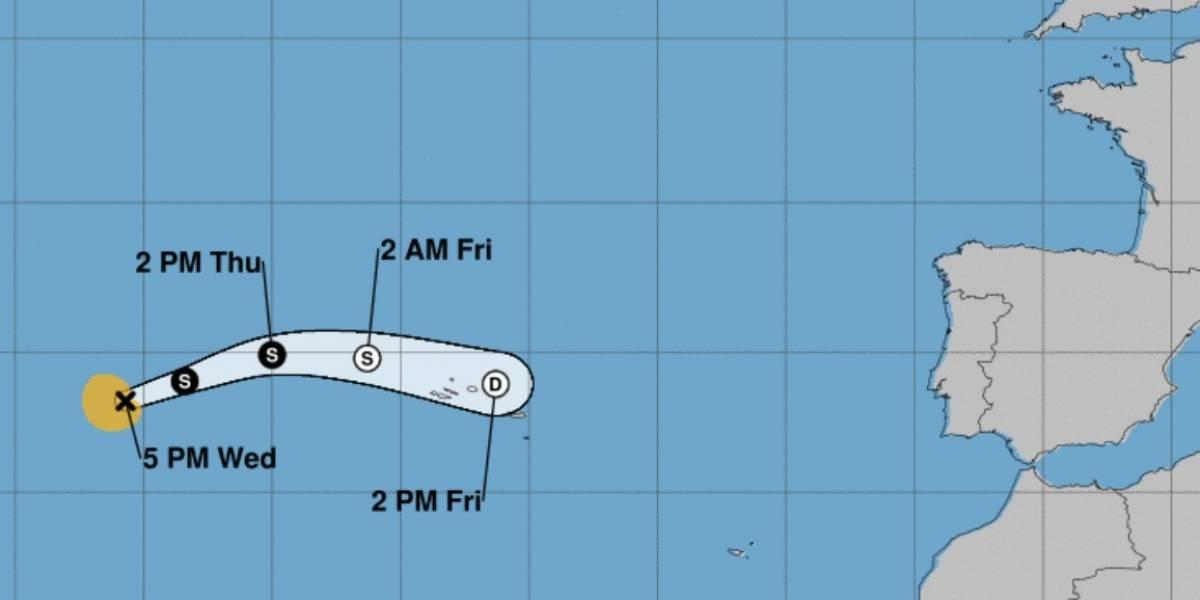 Se forma tormenta subtropical Rebekah en el Atlántico norte
