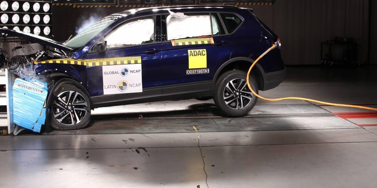 El Seat Tarraco palpita su llegada a Chile con cinco estrellas en Latin NCAP