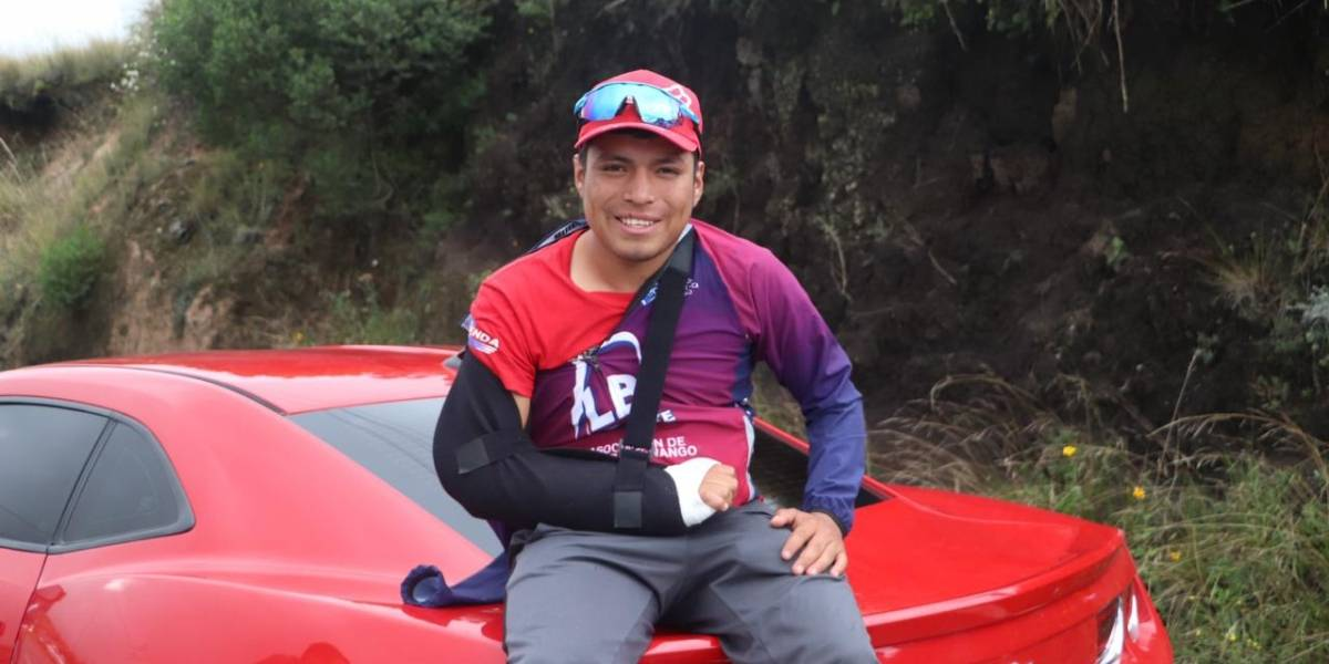 Ciclista guatemalteco pasa de ser competidor a espectador de la Vuelta
