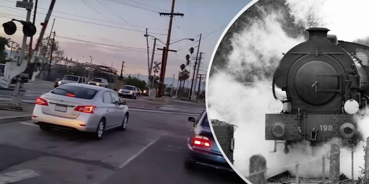 Instalan cláxones con sonido de tren en sus vehículos para asustar a otros conductores