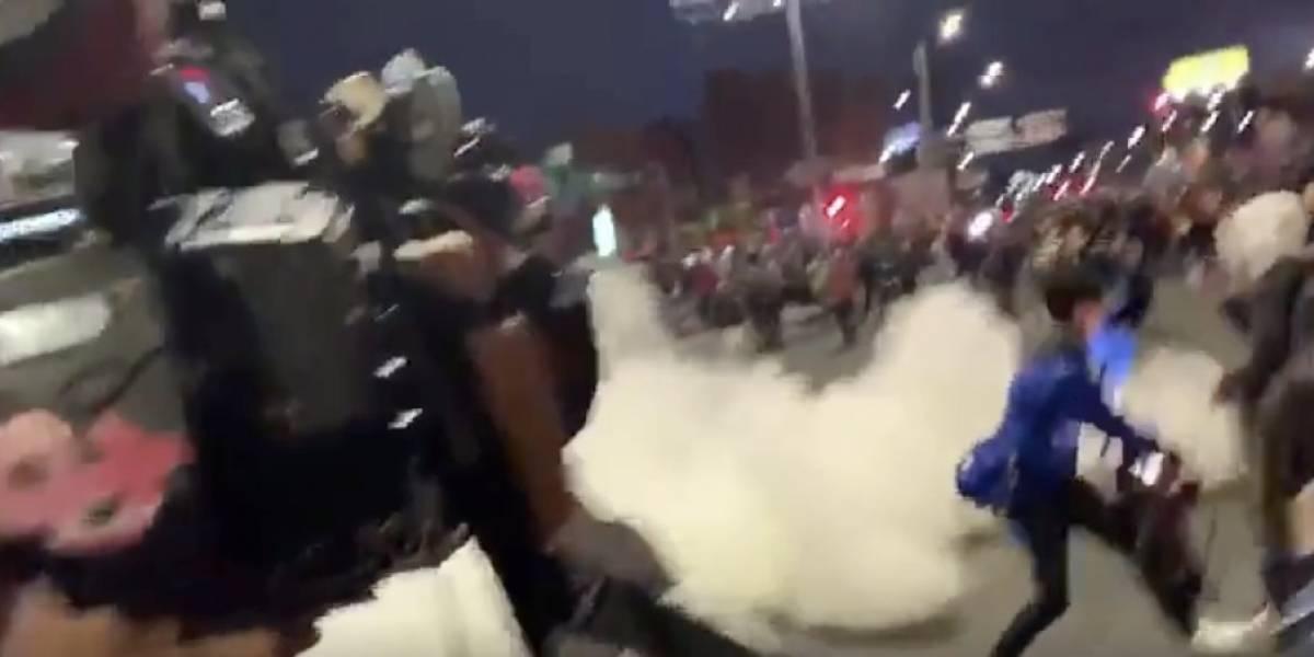 (Video) Periodistas fueron agredidos y robados durante manifestaciones en Héroes