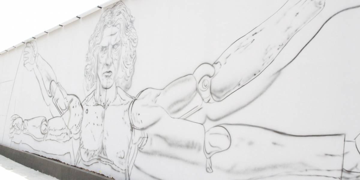 Artistas se reúnem no MIS Experience para reproduzirem o Homem Vitruviano