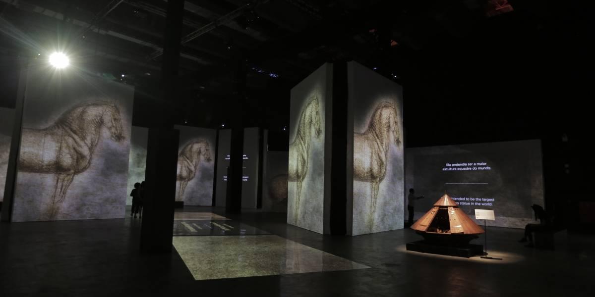 Exposição de Da Vinci em SP é prorrogada até 31 de maio