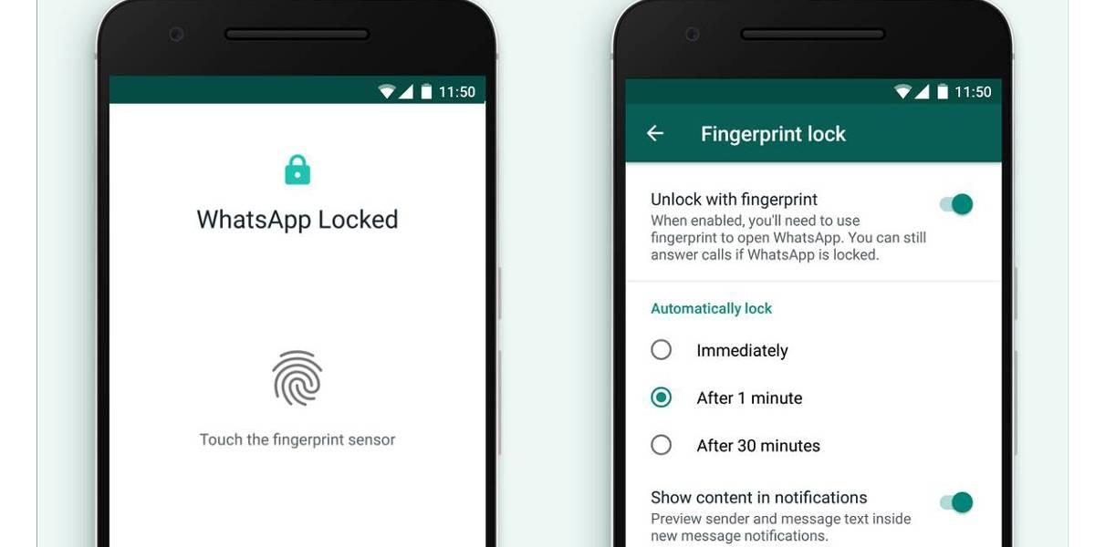 WhatsApp libera autenticação por digital para celulares Android