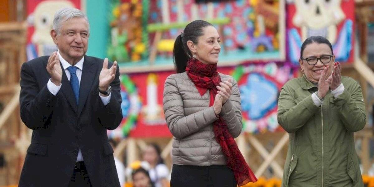 Sheinbaum y AMLO inauguran ofrenda monumental en el Zócalo